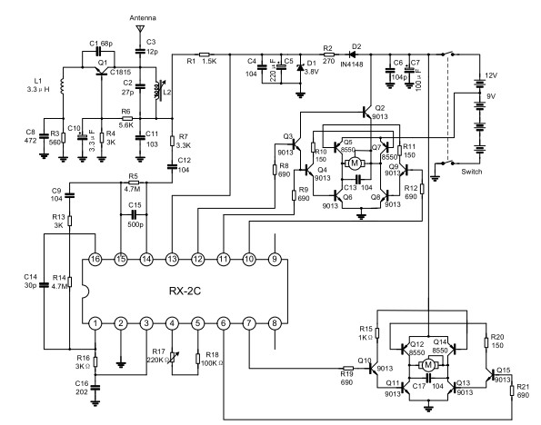 schema elettrico robot